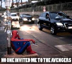 Poor Spiderman ;)