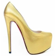 Christian Louboutins Daffodile 160mm Gold Strass Pumps
