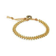 Women's Wakami Bracelet Single Beaded ($2.78) ❤ liked on Polyvore featuring buff beige