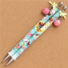 cute donut bear mechanical pencil macaroon charm Japan