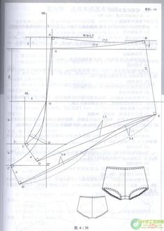Instructions for drafting undies - wish I could read the directions! Mix learns what you love to show you even more. Underwear Pattern, Lingerie Patterns, Sewing Lingerie, Bra Pattern, Clothing Patterns, Sewing Patterns, Sewing Hacks, Sewing Tutorials, Modelista