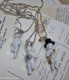 Such A Doll One of a Kind Vintage Charlotte Doll Charm Pendants.