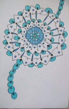 doodle in blue, cute idea like it