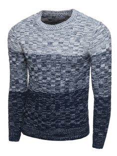 Ombre Crew Neck Long Sleeve Knit Blends Sweater #jewelry, #women, #men, #hats, #watches