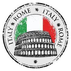 timbre en caoutchouc grunge avec le Colis�e et le mot Rome, Italie int�rieur, illustration vectorielle photo