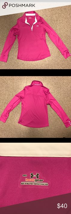 Under Armour Collared Dri-Fit- Long Sleeves- MD Pink Under Armour Collared Dri-Fit- Long Sleeves- Size MD. Great condition! Under Armour Tops Tees - Long Sleeve