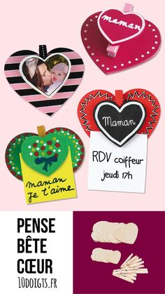 Kit Pense-Bête Coeur à Coeur Think beast heart in wood. Mothers Day Crafts For Kids, Valentine Crafts For Kids, Valentines Diy, Gifts For Kids, Valentine Decorations, Art Kits For Kids, Diy For Kids, Diy Gifts Just Because, Kit S