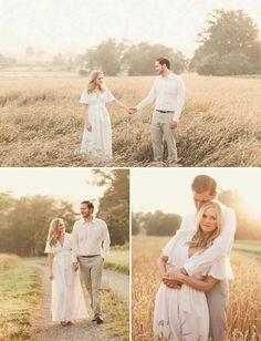 Romantic, golden engagement picture session