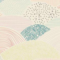"""Designerstoffe USA - """"Summit Dawn"""" von Art Gallery Fabrics, pastell - ein Designerstück von Frau-Mathilda bei DaWanda"""