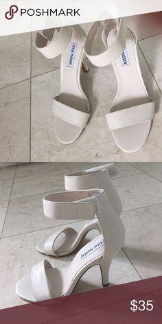 """Steve Madden shoes bone color 8.5 never worn Steve Madden shoes bone color 8.5 never worn, ankle Velcro strap 3"""" heel Steve Madden Shoes Heels"""