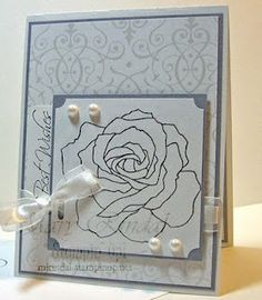 stampin up, fifth ave floral, wedding cards, bride specialty paper