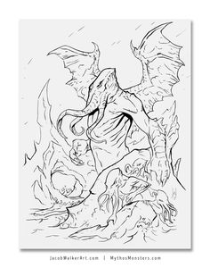 Coloring page of shiva the 8 arms 39 god creator of the for Cthulhu coloring pages
