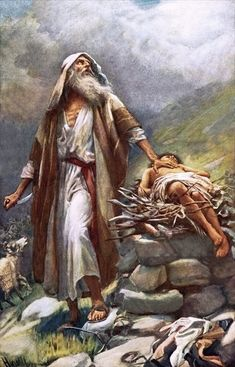 Abraham and Isaac by Harold Copping ~ Old Testament art
