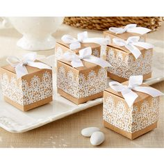 Rustic and Lace Kraft Favor Box