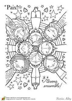 trouv dans httpwwwhugolescargotcomcoloriagemandala peace craftscoloring sheetscoloring