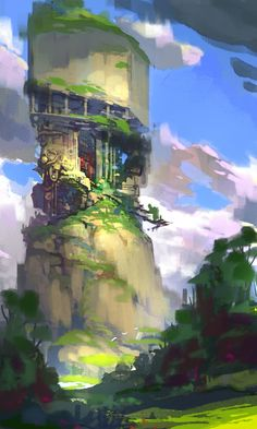 Concept art by on deviantART Game Art, Fantasy Art, Animation Art, Fantasy Landscape, Environment Design, Art, Digital Painting, Environmental Art, Landscape Art