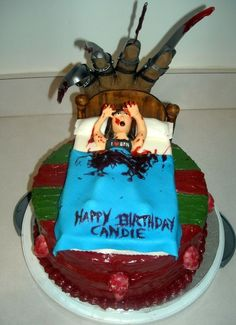 Freddy Krueger Cake @ Melissa Pruett.. I thought you would love a cake like this haha