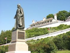 Father Marquette statue - Fort Mackinac - Mackinac Island, MI