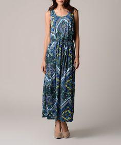 Christine V Purple & Blue Sky Paisley Sleeveless Maxi Dress by Christine V #zulily #zulilyfinds