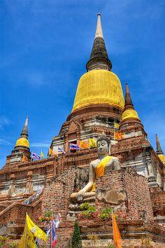 Wat Yai Chaimongkol in Thailand #thailand #asiantravel #asia #thai
