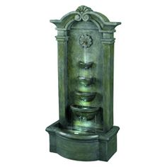 @Overstock - This classic free-standing outdoor fountain will bring joy to your outdoor area. The fountain is made from mossy green stone and is weatherproof. With its four LED bulbs for nighttime elegance, this piece is a lovely addition to your yard.http://www.overstock.com/Home-Garden/Apollo-44-Lighted-Outdoor-Fountain/5995672/product.html?CID=214117 $265.49