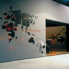 Abstract Map with wall graphics