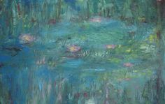 After Monet's Water Lilies. by Manpan Lau. Re-presenting the water lilies of Monet.