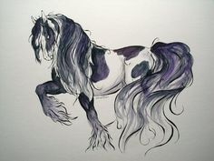 Gypsy Vanner    Water Color/Ink    Illustration Board   Leigh©2011