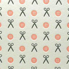 Sew Crafty in Pink/Gray by letterpressdelicacies, via Flickr