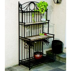 A Baker's & Wine Rack Combination Featuring Traditional Mosaics