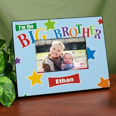 Personalized Big Brother Star Printed Frame
