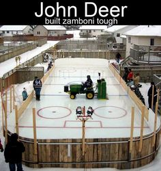 I want one in my backyard... Hey honey, you can buy that John Deere you have always wanted!