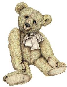 Teddy Bear Kevin Wood Signed Print by KevinWoodArtPrints on Etsy