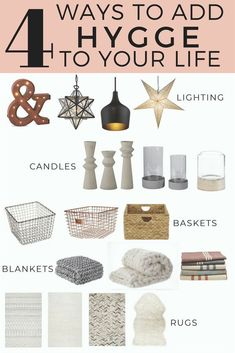 4 Easy Ways to Hygge Your Home in any season using simple decor items! 4 Easy Ways to Hygge Easy Home Decor, Home Decor Bedroom, Cheap Home Decor, Bedroom Ideas, Home Decor Items, Home Decor Accessories, Decorative Accessories, Decorative Items, Casa Hygge