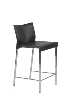Euro Style Riley Counter Chair (Set of Leather Counter Stools, Counter Height Bar Stools, Counter Chair, Black Dining Room Chairs, Bar Chairs, High Chairs, Desk Chairs, Eames Chairs, Black Stool