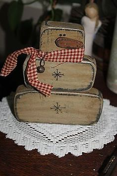Primitive Winter/Christmas Snowman with Rusty Bell & wire Shelf Sitter