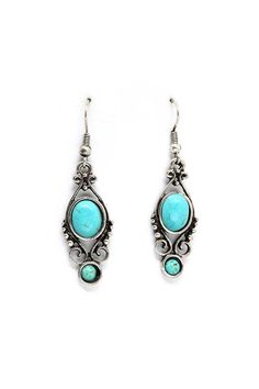Millie Earrings in Turquoise