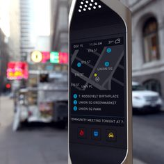 """Frog Design- """"Beacon"""" recycles pay phone booths to display local services"""