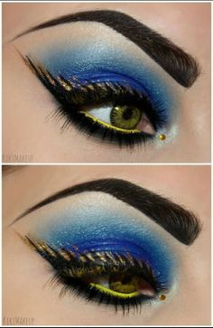 Blue and gold eye