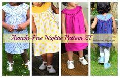 Free pattern: Aanchi toddler round yoke nightgown or dress