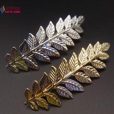 New arrvial thời trang thanh lịch vàng/bạc màu leaf Tóc tóc comb jewelry cho phụ nữ phụ kiện grampos de cabelo