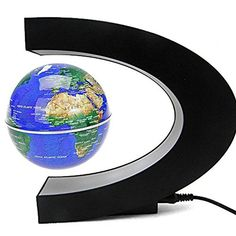 TYoung Magnetic Levitation Floating Globe 3 C Shape Frame with LED Lights  Blue -- More info could be found at the image url.