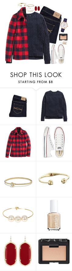 """Navy is my spirt animal"" by lexii-campbelll ❤ liked on Polyvore featuring Abercrombie & Fitch, H&M, J.Crew, Converse, David Yurman, Kate Spade, Jules Smith, Essie, Kendra Scott and NARS Cosmetics"