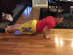 Newtons third law is being demonstrated here as I push up from the floor the floor pushes back and i push back up.