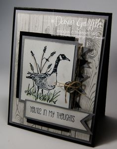 By Dawn Griffith. Background: Black card base then gray mat then popped up white… Masculine Birthday Cards, Birthday Cards For Men, Masculine Cards, Boy Cards, Cute Cards, Men's Cards, Fathers Day Cards, Stamping Up Cards, Get Well Cards