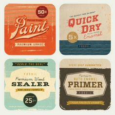 miniature printies - vintage paint cans  | Source: Page Thirteen