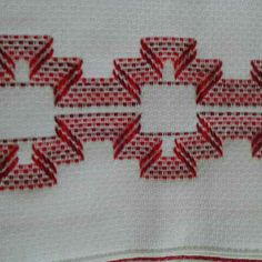 Swedish Embroidery, Hand Embroidery, Embroidery Designs, Weaving Patterns, Crochet Patterns, Swedish Weaving, Cross Stitch Embroidery, Embroidered Towels, Macrame Patterns