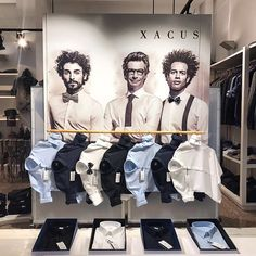 "WOSJH, Amsterdam, The Netherlands, ""Gentlemen First"", for Xacus shirts, pinned by Ton van der Veer"