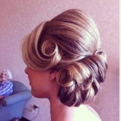 Vintage inspired wedding updo - rockabilly bride