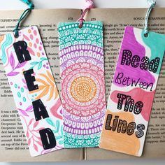 Creative Bookmarks, Cute Bookmarks, Paper Bookmarks, Handmade Bookmarks, Mandala Art Lesson, Mandala Artwork, Mandala Drawing, Zentangle, Birthday Card Drawing